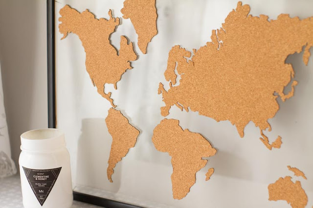 Diyear mapa de corcho vinilosrayados - Mapa de corcho ...