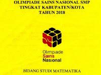 Download Soal OSK Matematika SMP Tahun 2018