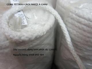 Dây sợi gốm Ceramic chịu nhiệt, chống cháy   Cách nhiệt Á Châu Ceramic%2BFiber%2BRope14