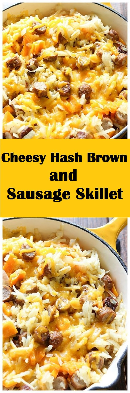 Cheesy Hash Brown and Sausage Skillet