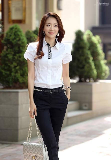 Model Baju Kemeja Wanita Santai Trendy Terbaru