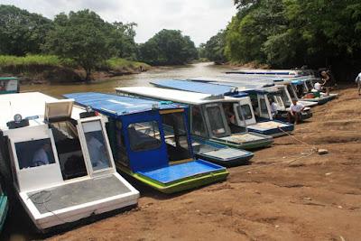 Embarcadero de La Pavona en Costa Rica