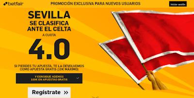 betfair Sevilla se clasifica final cuota 4 Copa 11 febrero
