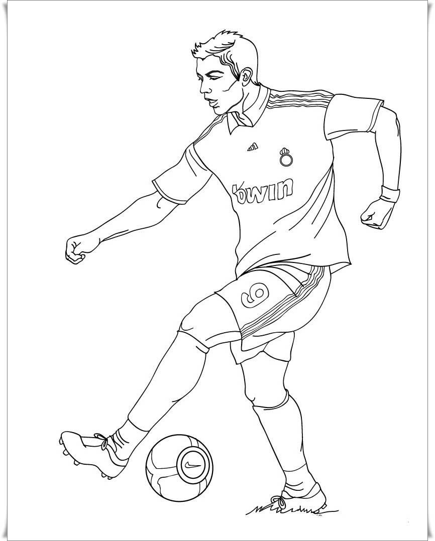 Ausmalbilder zum Ausdrucken: Ausmalbilder Fußball