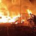 Incêndio atinge fábrica de paletes de madeira