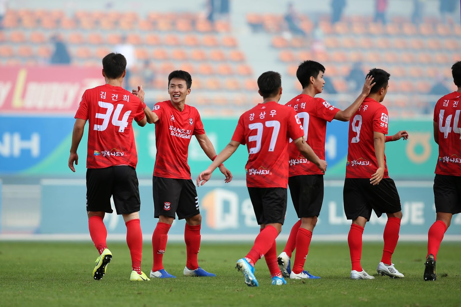 Sangju's 2-1 win against Gangwon was not enough for a top six finish.