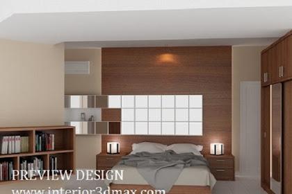 Design 3dmax interior kamar tidur murah cepat berkualitas