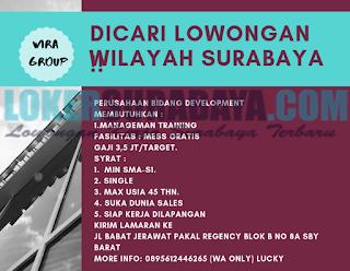 Dicari Tenaga Kerja di Wira Group Surabaya Terbaru Juni 2019