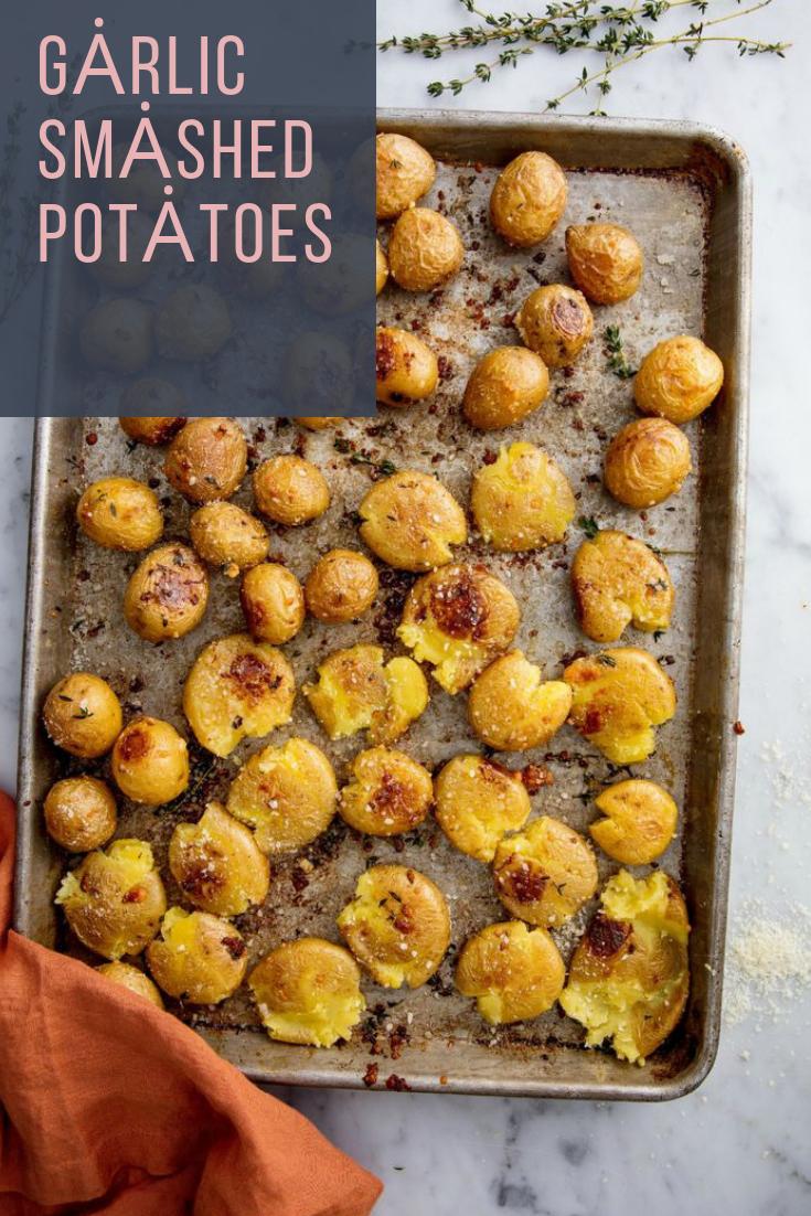 #Garlic #Smashed #Potatoes