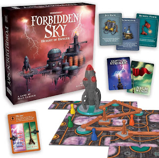 Componentes del juego de mesa Cielo prohibido (Forbidden sky)