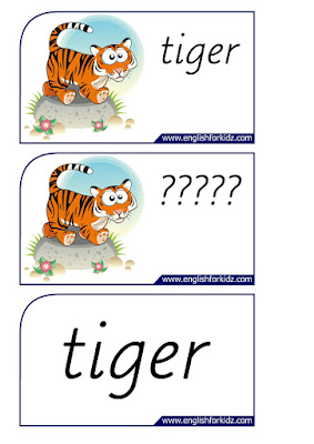 tiger printable flashcards