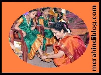 नवरात्रि में कन्याओं के पैरों का पूजन क्यों होता है? Navratri me kanya ke pair pujne ka kya karan hai?