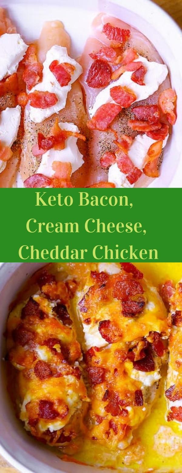 Keto Bacon, Cream Cheese, Cheddar Chicken