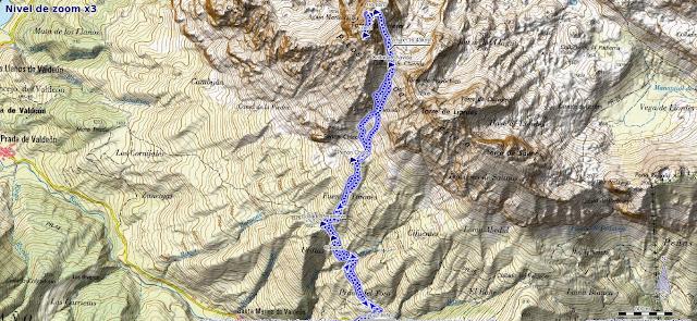 Mapa ruta Torre del Friero