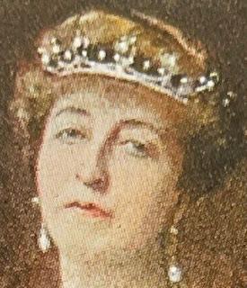 Countess of Flanders' Pearl & Diamond Tiara worn by the Duchess of Vendome