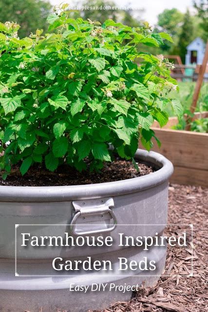Farmhouse Inspired Garden Beds