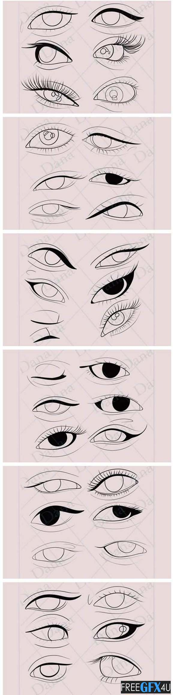 Procreate Eye Stamp Brushes Pack
