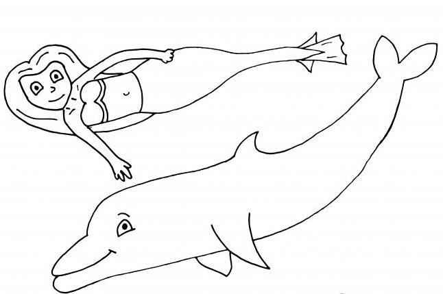 50+ ausmalbilder delphin meerjungfrau - farbung