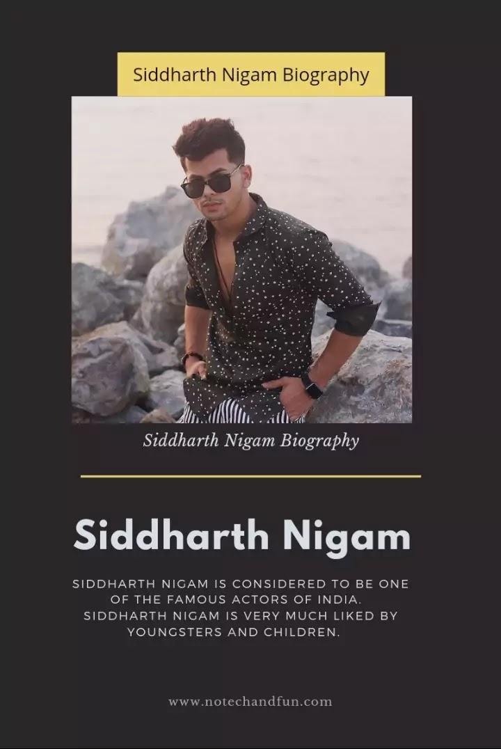 Siddharth Nigam's Biography in English, Age, Height, GF