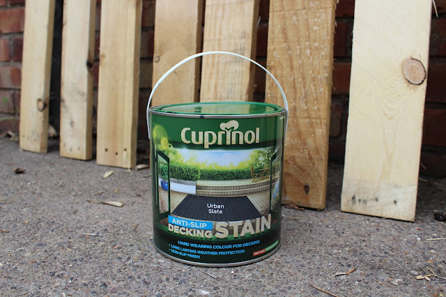 cuprinol on pallet wood
