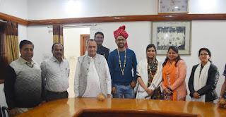 श्री मोहनखेड़ा महातीर्थ में पूर्व एसडीएम श्री विजय राय को दी विदाई
