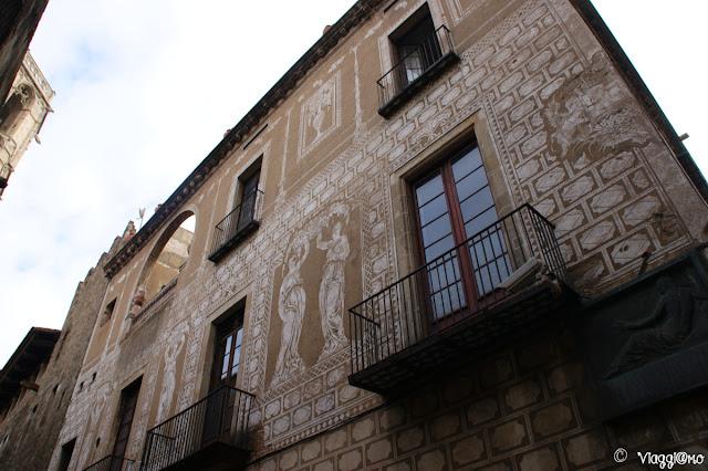 Edificio storico del quartiere gotico di Barcellona