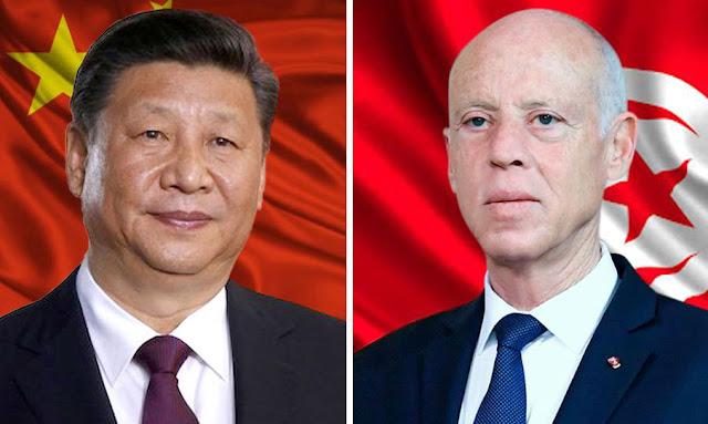 الرئيس الصيني ندعم قيس سعيد kais saied tunisie xi jinping chine