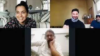 Kangana ranaut, ritesh shah, rajnesh ghai and sohel malkai in 'Dhaakad' virtual Script reading session