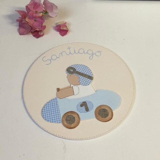 placas de puerta infantiles personalizadas -coche