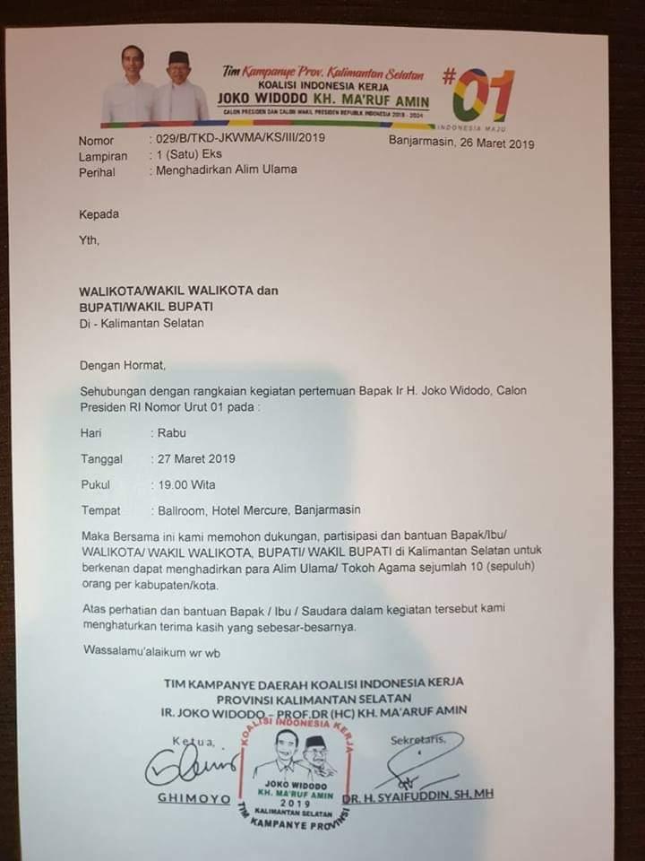 Kampanye 01 di Kalsel Libatkan Kepala Daerah? Netizen Temukan Bukti Ini
