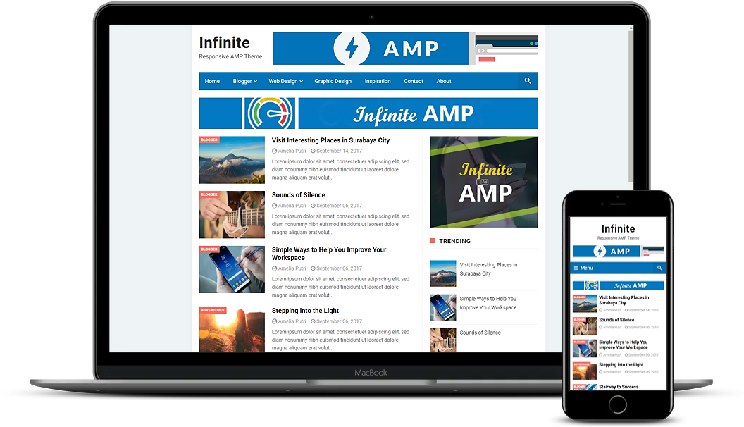 23+ Acceleration Mobile Page (AMP) Blogger Templates