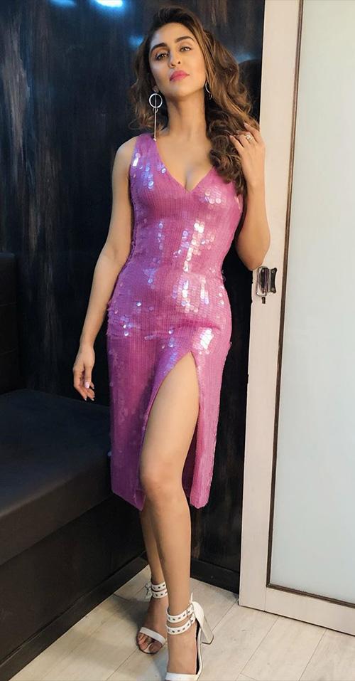 Krystle D'Souza high slit dress indian tv actress