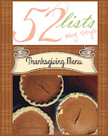 52 Lists #46 - Thanksgiving Menu on Homeschool Coffee Break @ kympossibleblog.blogspot.com - includes recipes for Pineapple Casserole and Cranberry Crumble