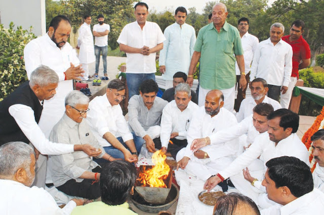 Ino sacrificed Havan on the death anniversary of Tau Devi Lal