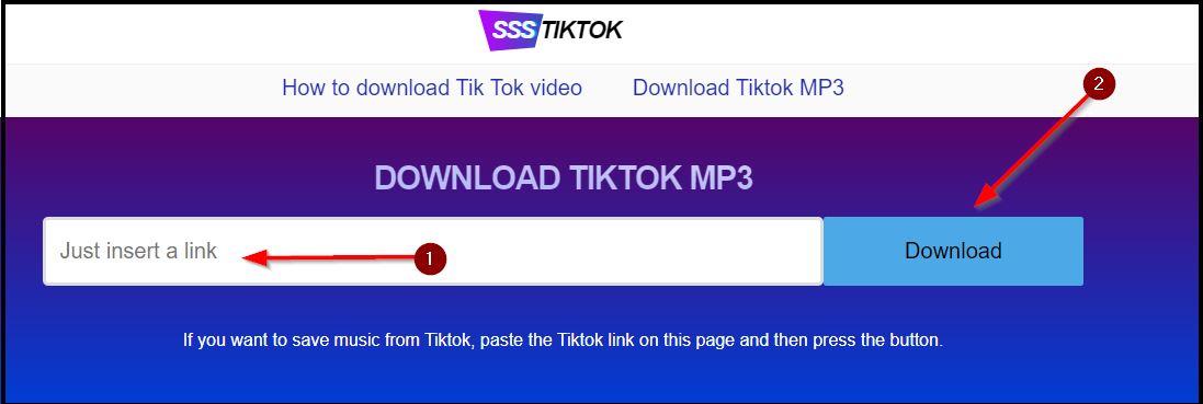 cara download tiktok mp3 di ssstiktok