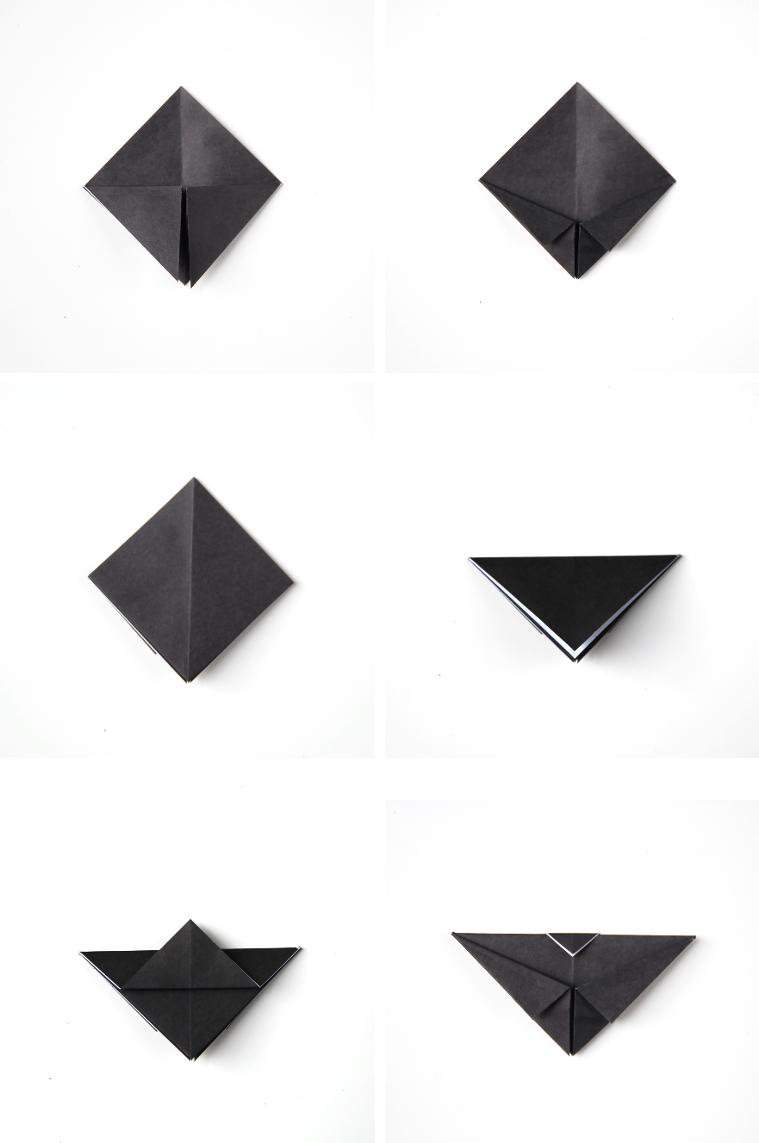 DIY ORIGAMI BAT CUPCAKE TOPPERS