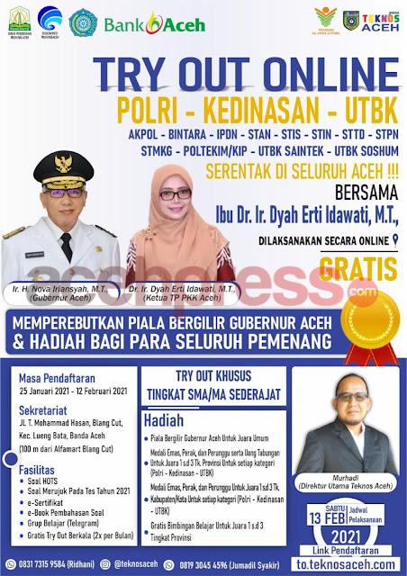 Dyah Erti Idawati Gandeng Teknos Gelar Try Out Online SMA se-Aceh