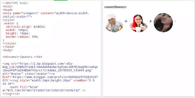 proses pembuatan widget konstributor pada blog