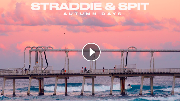 STRADDIE SPIT AUTUMN DAYS SOME LEFT OVER WAVES FROM MAY SURFING GOLD COAST QUEENSLAND AUSTRALIA