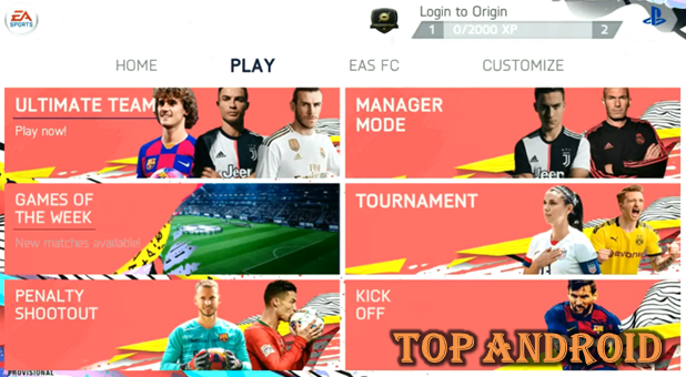 تحميل لعبة FIFA 2020 Android Offline Mod اوفلاين للاندرويد بحجم 700