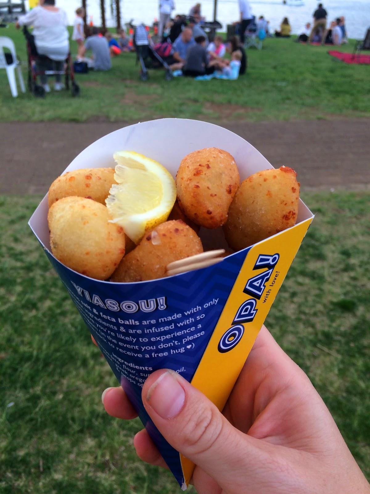 Port Macquarie Tastings on Hastings Night Festival Greek Food Cone