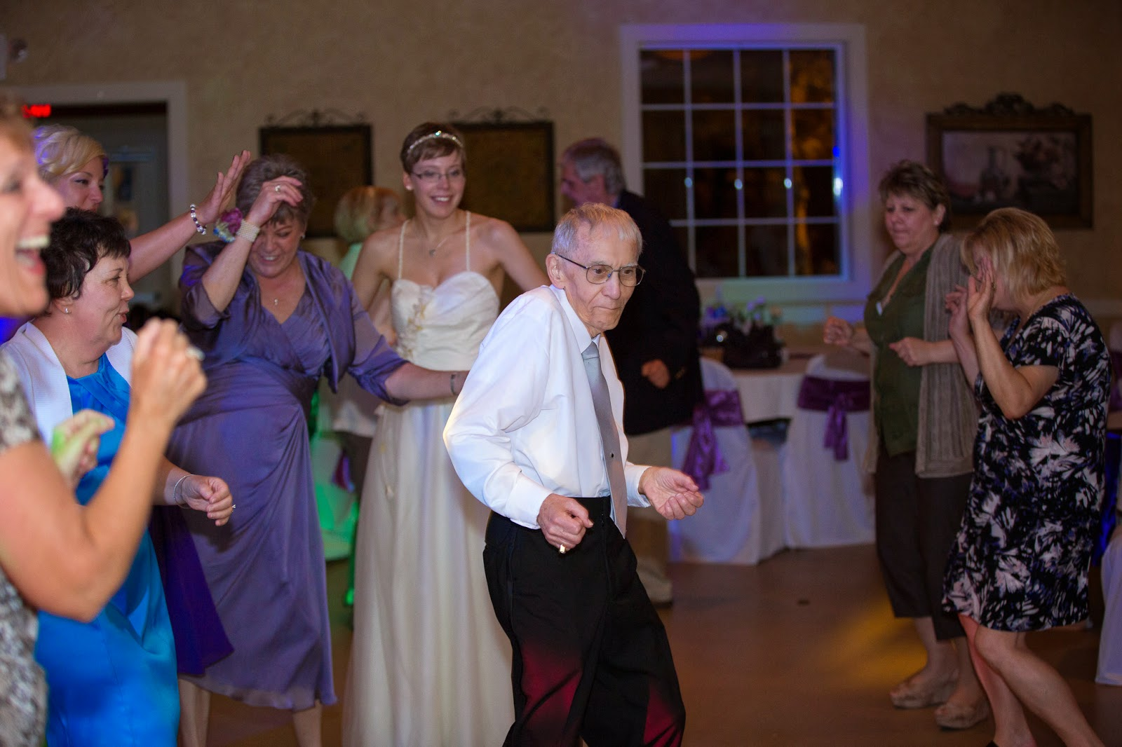Photo of my 80-something year-old grandfather getting his dance on!