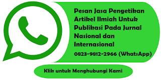 Jasa Pengetikan Artikel Ilmiah untuk Publikasi Pada Jurnal Nasional dan Internasional