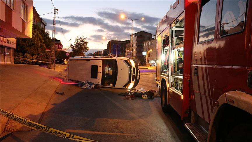 Korkunç kazada emniyet kemeri detayı...