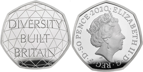 United Kingdom 50 pence 2020 - British Diversity