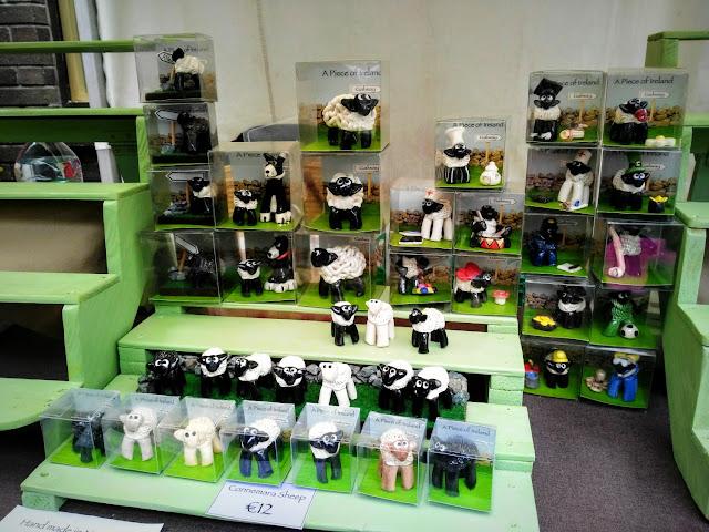 display of sheep figurines