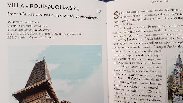 """Fiche de la villa """"Pourquoi Pas"""" au Perreux sur Marne"""