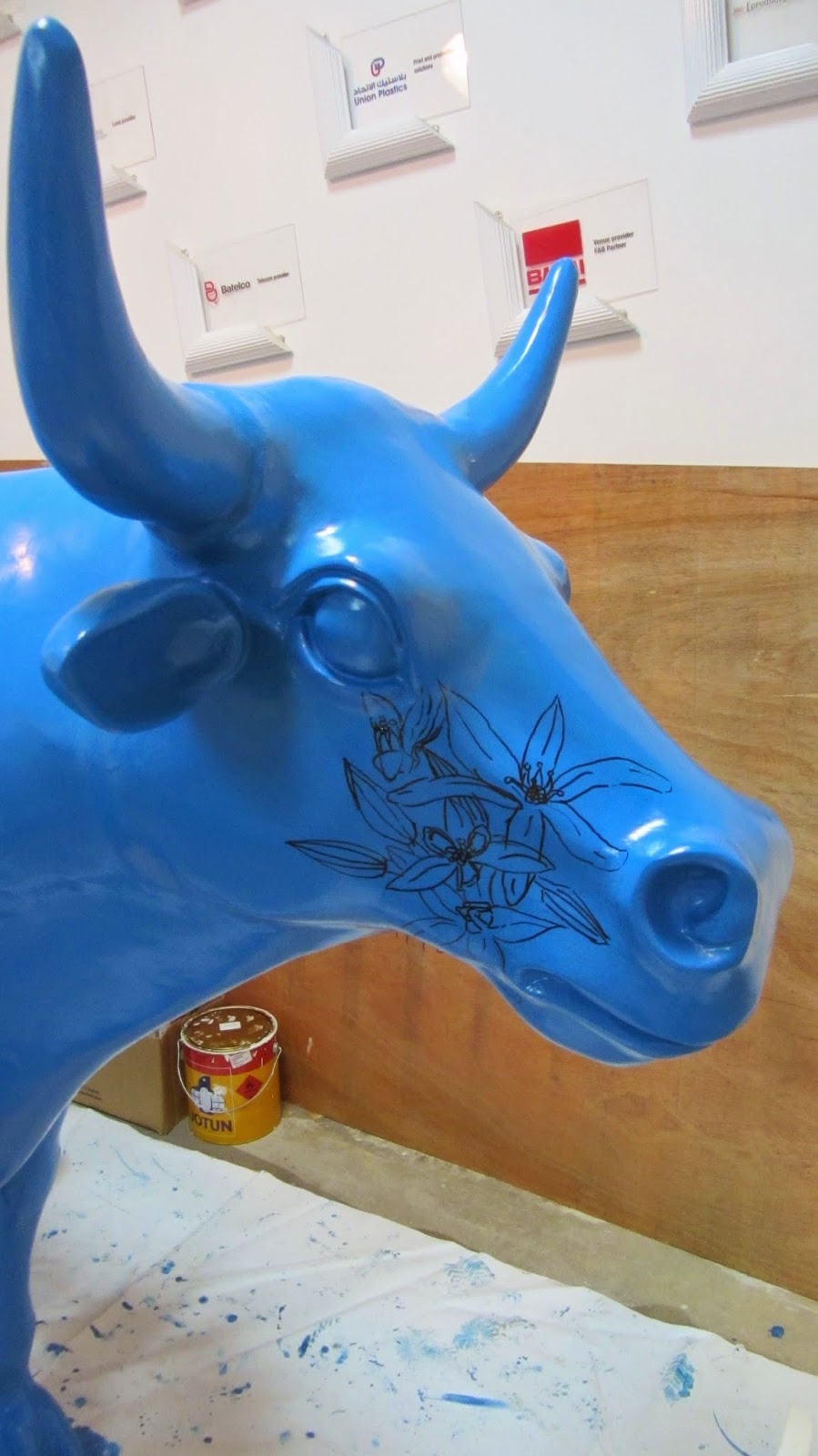 Malja A Red Bull space Amwaj Islands Bahrain blue cow face blog
