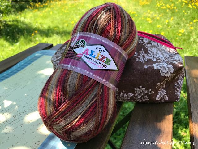 вязание носков из Alize Superwash 4659