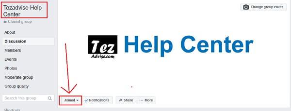 Tezadvise facebook Group Help Center